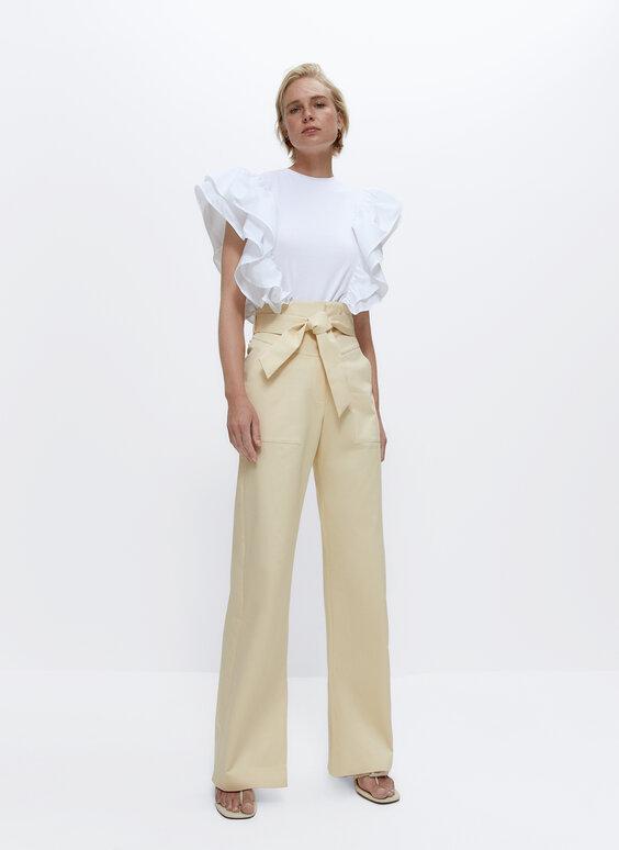 Pantalon taille haute poches