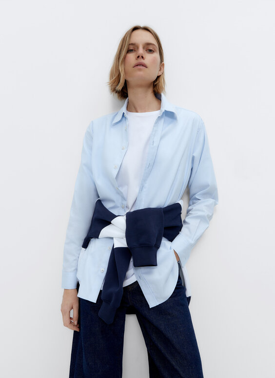 0.0 Studio oversize sky blue shirt