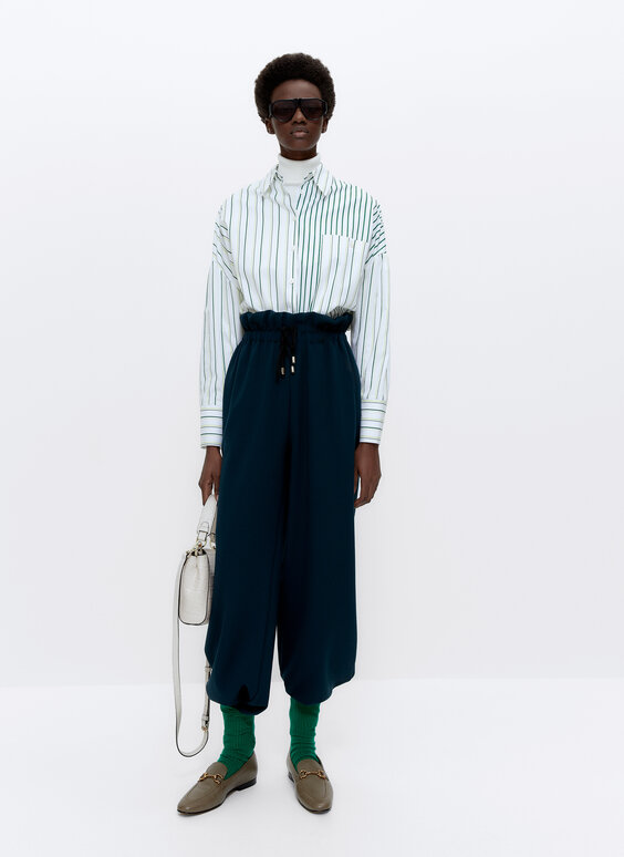 Oversize shirt with matching stripes