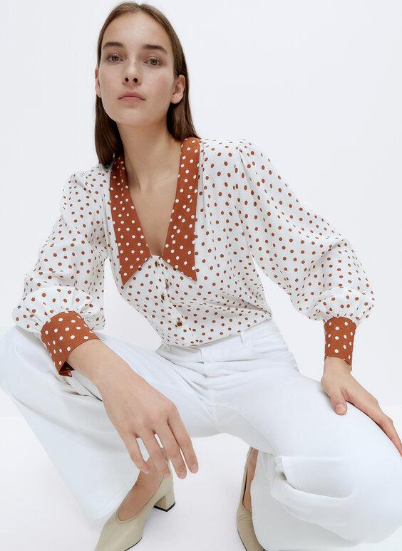 Košulja s točkastim uzorkom