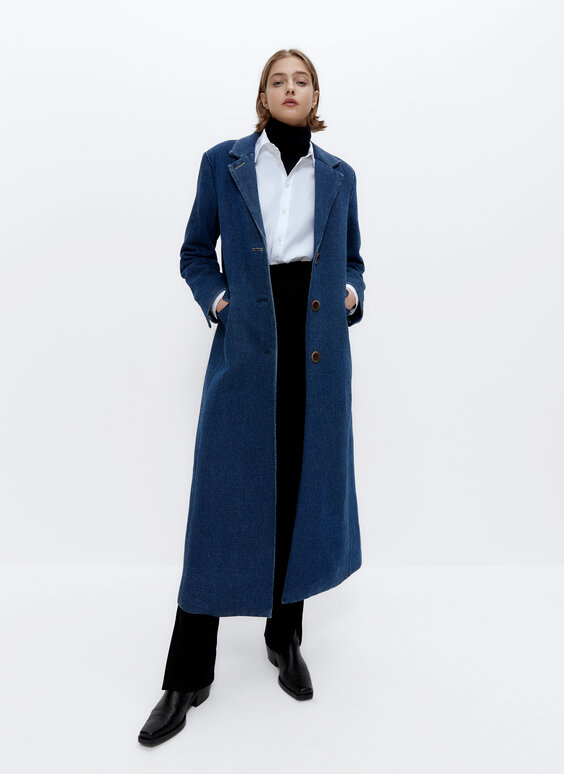 Manteau long denim