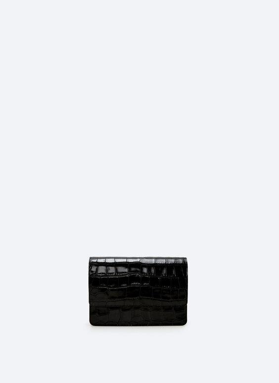 XL mock croc leather bag