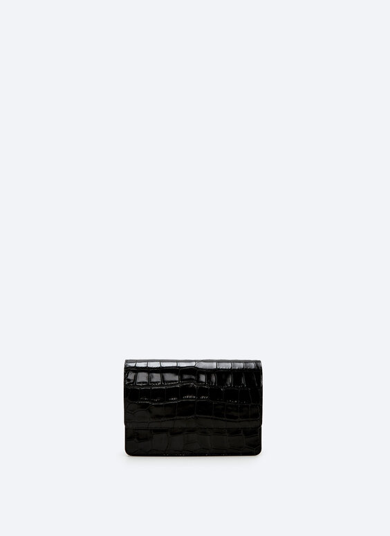 XL mock croc leather bag