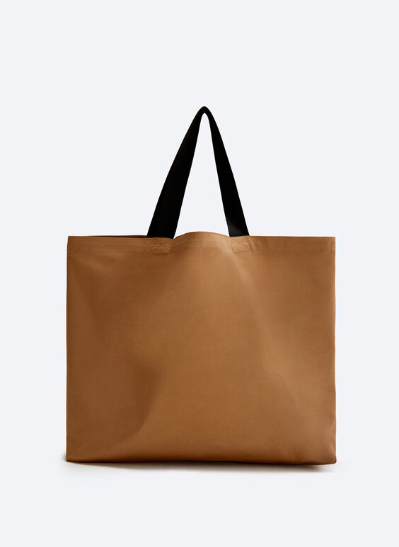 Plain tote bag with pocket