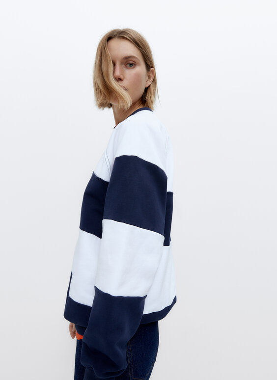 0.0 Studio striped sweatshirt