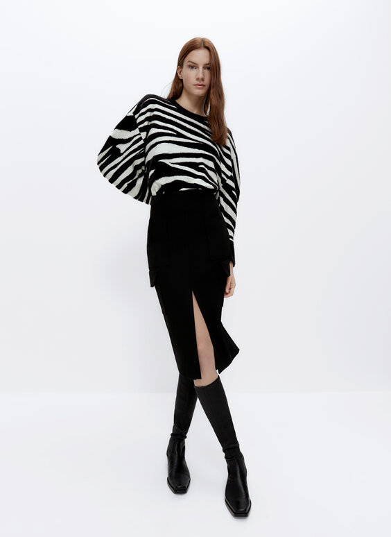 Knit zebra sweater