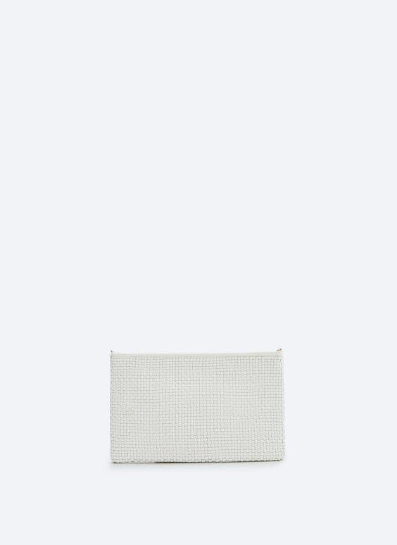 Pīta ādas plecu 'clutch' stila somiņa