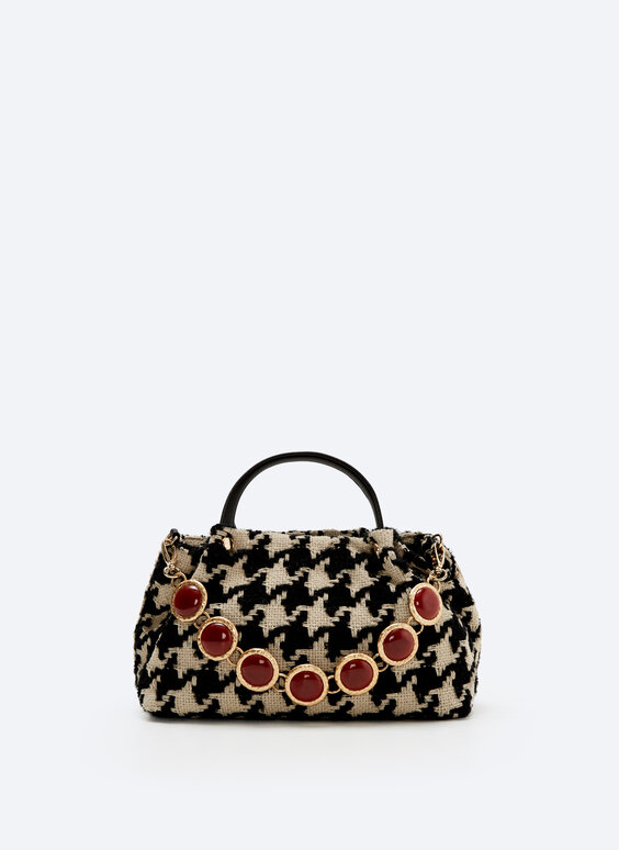 Houndstooth city bag