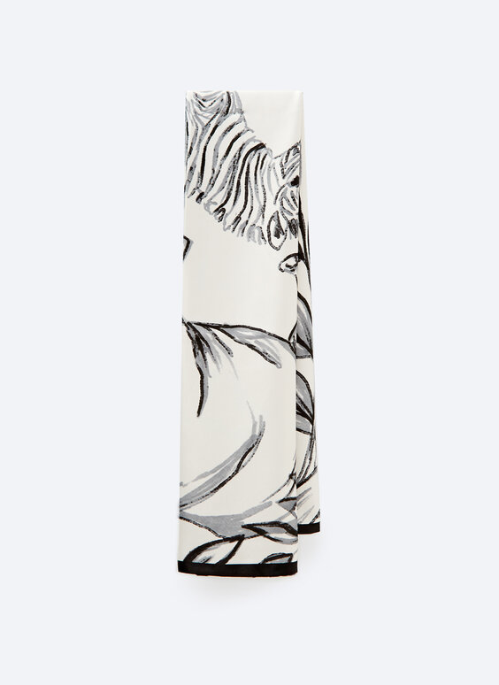 Foulard double imprimé motif animal
