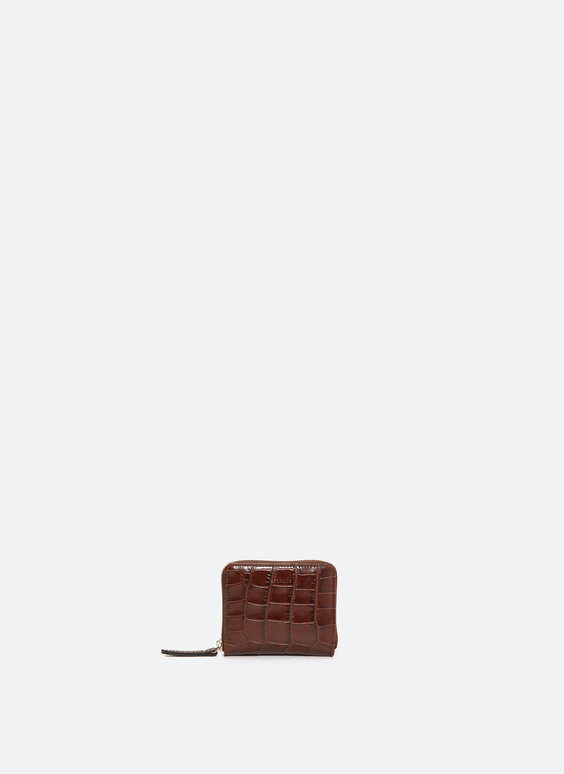Mini leather clutch
