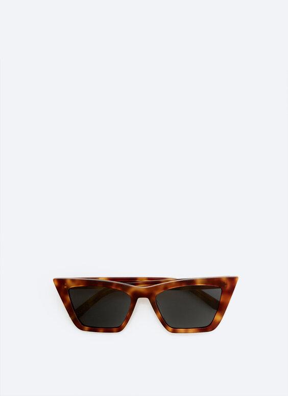 Angled tortoiseshell sunglasses