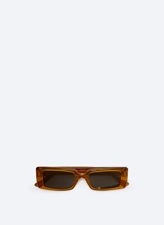 Rectangular mustard yellow sunglasses