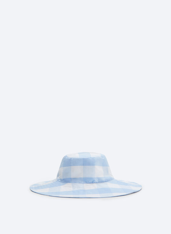 Pălărie în carouri vichy