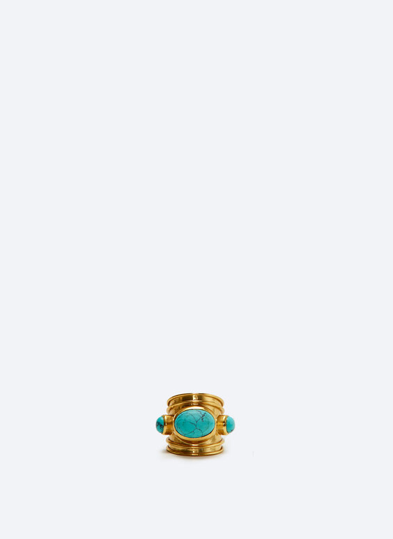 Gold turquoise ring
