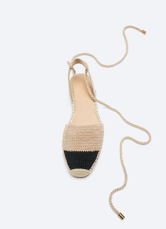 Tie-up crochet espadrilles