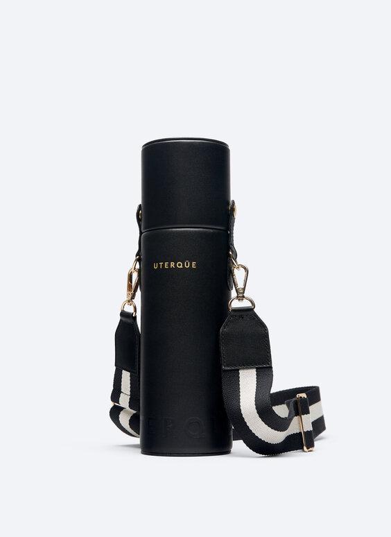 Terminis butelis su odiniu dėklu